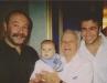 10.Сын Николай, правнук Иван, Ефим и внук Андрей на 85-летии Е. Чеповецкого. Чикаго 2004.